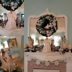 Christmas mantle decorations at Southard House: ready for Christmas parties! #bedandbreakfast #EnidOK #southardhouse