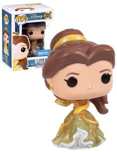 Disney Beauty And The Beast Belle (Sparkle Dress) - Walmart Exclusive - New, Mint Condition - Funko Funko Pop Dolls, Funko Pop Figures, Pop Vinyl Figures, Pop Disney, Film Disney, Disney Belle, Tous Les Disney, Pixar, Dreamworks