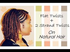 Hairstyles For Black Women .Hairstyles For Black Women 2 Strand Twists With Flat Twists On Natural Hair - blackhairinformat. 2 Strand Twist Styles, Flat Twist Styles, Natural Hair Twist Out, Natural Hair Care Tips, Natural Hair Styles, Flat Twist Hairstyles, Cool Hairstyles, Black Hairstyles, Popular Hairstyles