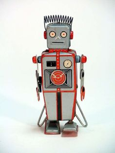 vintage tin robots