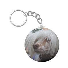 Chinese Crested Dog Keychain