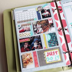 Just Jaimee A5 Planner Templates - Hunter Collection - Loving January (layout and templates by amymarieschn of Pride and Joy Designs) planner pages, planner templates, digital, scrapbook, printables