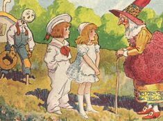THE CHEERY SCARECROW  PUBLISHED BY M.A. DONOHUE  COPYRIGHT JOHN B. GRUELLE   A WALK TO SCHOOL, TURNS INTO AN ADVENTURE  WHEN THE CHILDREN MEET THE CHEERY SCARECROW.