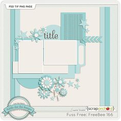 Template freebie from Fiddle Dee Dee Designs  Template Tuesday: December 8th – Fuss Free: Freebee 166