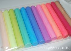 Set of 12 Pastel Colors of Polymer Clay DIY by MyHappyColor