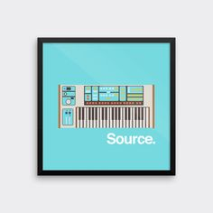 Moog Source Synthesizer Art Print Analog Synth Vintage Graphic Poster Home Geek Music Retro Keyboard Musical Instrument Musician by sonsofwolves on Etsy https://www.etsy.com/listing/208385495/moog-source-synthesizer-art-print-analog