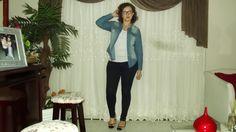 Entre cachos e ideias: Look do dia - all jeans