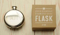 I need a flask. And I like this one. Update: Finally treated myself to one of these - I love it!