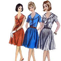 Simplicity 5832 Vintage 60s Misses' OnePiece door retrowithlana