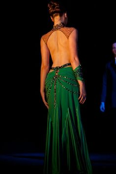LeNique Smooth Ballroom Dress Green - don't know why I like it, but I do.