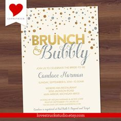 Hey, I found this really awesome Etsy listing at https://www.etsy.com/listing/207604114/glitter-bridal-shower-invitation-brunch