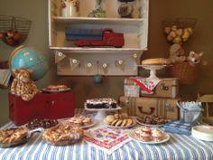 Love Dallen's vintage baby shower!