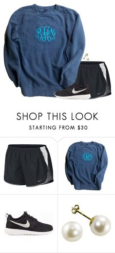 """""""{monograms are a girls best friend}"""" by preppy-southern-girl-1-2-3 ❤ liked on Polyvore featuring NIKE"""