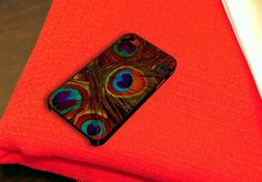 Orange Peacock Feather Art iPhone 4 iPhone 4S Case by caseboy, $15.79