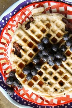 Bacon Waffles (gluten-free, Dairy free, egg free) #glutenfree #eggfree #breakfast
