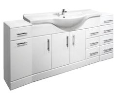 VeeBath Linx Fitted Bathroom Furniture Vanity Basin Cabinet Unit White - 1850mm · $437.00 Fitted Bathroom Furniture, Furniture Vanity, Basin Cabinet, Vanity Basin, Furniture Deals, Double Vanity, Fitness, Double Sink Vanity