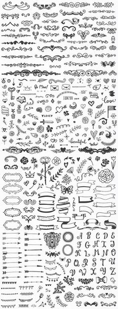 Drawing Doodle Easy Hundreds of fancy and easy bullet journal decorations and planner doodles, DIY drawing ideas, notebook sketching Icon Design, Bullet Journal Inspiration, Drawing Tips, Drawing Ideas, Drawing Drawing, Doodle Art, Doodle Images, How To Draw Hands, Notes