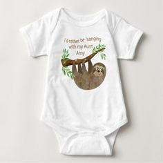 Nephew Gifts, Aunt Gifts, Baby Sloth, Cute Sloth, Eric Carle, Aunt Baby Clothes, Pregnancy Clothes, Diy Clothes, Winnie The Pooh