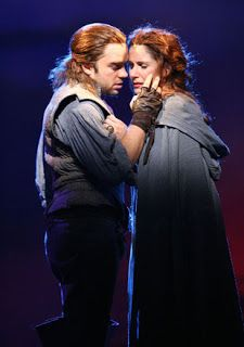 Hadley Fraser and Stephanie J. Block as grace o'malley in The Pirate Queen Musical Theatre Broadway, Theatre Plays, Broadway Les Miserables, Grace O'malley, J Block, Hadley Fraser, Pirate Queen, Pirate Life, Dear Evan Hansen