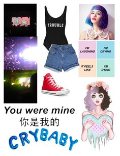 """""""MELANIE MARTINEZ CONCERT"""" by that-1-awkward-friend1234 ❤ liked on Polyvore featuring ADRIANA DEGREAS and Converse"""