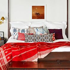 Snag Jessica Alba's Beautiful Bedroom – For Less!: Source: Justin Coit via Domaine Home When we spotted Jessica Alba's Beverly Hills bedroom makeover on Domaine, we couldn't help but pore over the details – gorgeous textiles in eye-catching prints, graphic Moroccan tiles, rustic wood, sumptuous leather, and gold accents.