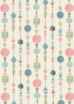 geometric : watercolour : stripe : ennaland: design by Anny Who Geometric Patterns, Graphic Patterns, Textile Patterns, Abstract Pattern, Textiles, Cute Pattern, Pattern Art, Backgrounds Wallpapers, Pretty Patterns
