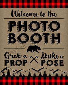 PRINTABLE Lumberjack Photo Booth PropsPhoto by HappyFiestaDesign