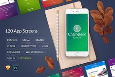 Chameleon UI Kit  by UI Chest on @creativemarket