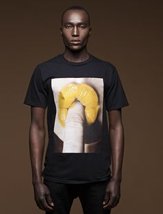 From The Lip Series Collection . This is the Yellow Lip t shirt without a border. It comes in Small , Medium and Large