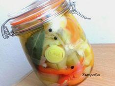 Λαχανικά τουρσί Pickles, Cucumber, Vegetables, Food, Veggies, Vegetable Recipes, Meals, Pickling, Cauliflower