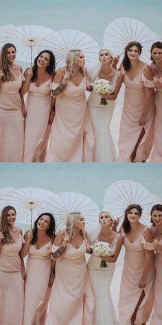 A-Line Spaghetti Straps Pink Bridesmaid Dress,Cheap Bridesmaid Dresses,WGY0418#bridesmaids #bridesmaiddress #bridesmaiddresses #dressesformaidofhonor #weddingparty #2020bridesmaiddresses