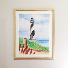 watercolor lighthouse painting