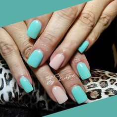 SNS nails (dipping powder) by Lupe @ Angel Nail Spa.
