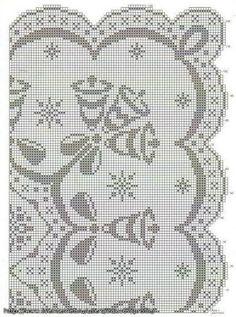 De la web este hermoso mantel navideño