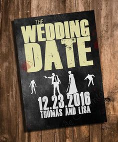 The Walking Dead inspired Save the Date  by PrideAndPrintables