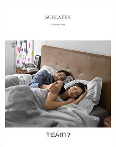 Kostenlose Möbel-Kataloge von TEAM 7 | Gesund schlafen | Schlafen Buch