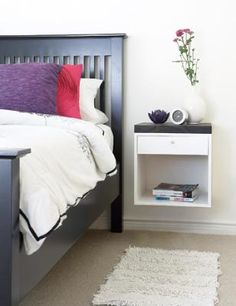Ideas For Nightstands basket on wall in place of nightstand, really like this look for a