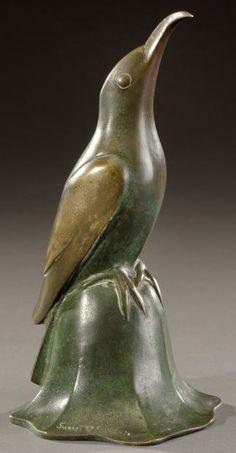 Édouard Marcel Sandoz, bronze sculpture, 1926.