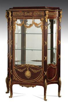 "Very fine 19th c. French vitrine, 69""h : Lot 200"