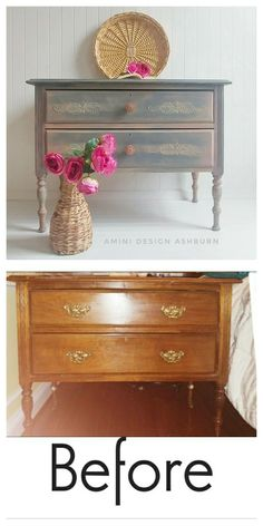 Boho style dresser furniture makeover Annie Sloan chalk paint