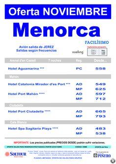 Oferta hoteles en Menorca, salidas desde Jerez de la Frontera - Noviembre ultimo minuto - http://zocotours.com/oferta-hoteles-en-menorca-salidas-desde-jerez-de-la-frontera-noviembre-ultimo-minuto/