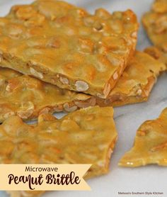 Microwave Peanut Brittle - The ease of microwave peanut butter can only be topped by how good it is to eat. I can remember loving homemade peanut brittle from a very young age.