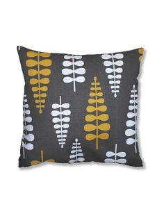 grey yellow white cushion