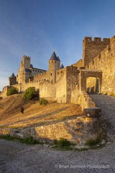 Entrance to medieval town of Carcassonne,  France. © Brian Jannsen