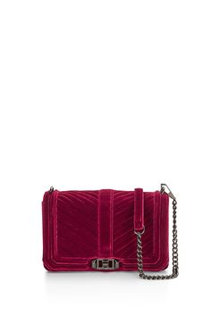 Velvet Love Crossbody - Meet your new going-out bag. Featuring eye catching hardware, the Love Crossbody is a match made in heaven with any outfit. Wear it crossbody or remove the chain strap to use it as a clutch.