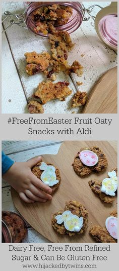 Dairy Free, Free From Refined Sugar Easter Fruit Oaty Snack - An Alternative #FreeFromEaster great to bake with the kids!