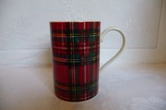Dunoon China Mug Scottish Tartan Plaid  Royal by GaslightTreasures