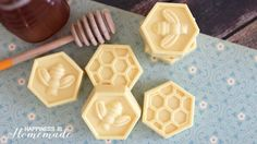 Easy DIY Milk & Honey Soap - This easy DIY Milk and Honey soap can be made in just 10 minutes, and it boasts lots of great skin benefits from the goat's milk and honey! A wonderful quick and easy homemade gift idea!
