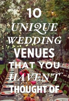If you're an engaged gal who's looking for some different wedding venue inspiration, look no further!