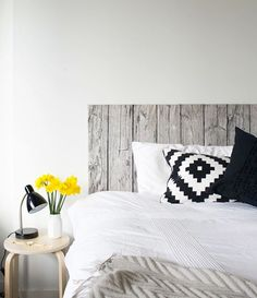 Turn your floating bed into a beautiful bedroom with these easy and inexpensive DIY headboards.